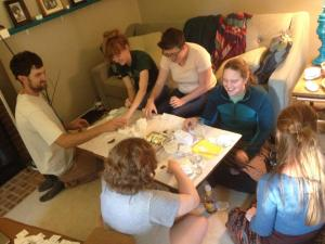 Thanks to our Grinnell friends for packaging seeds!